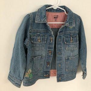100% cotton denim jacket size 3T